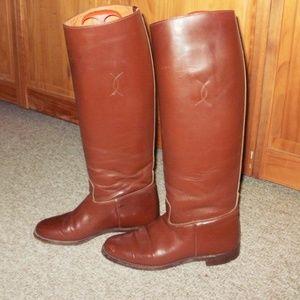 COLT CROMWELL BROWN DRESS BOOTS 6.5C- 8 SLIM CALF